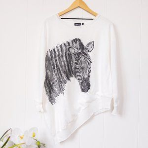ONLY NWT Zebra Sequin Top Small